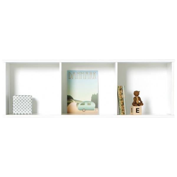 Wood Bokhylla 3 X 1 För Vägg Oliver Furniture från Inget märke