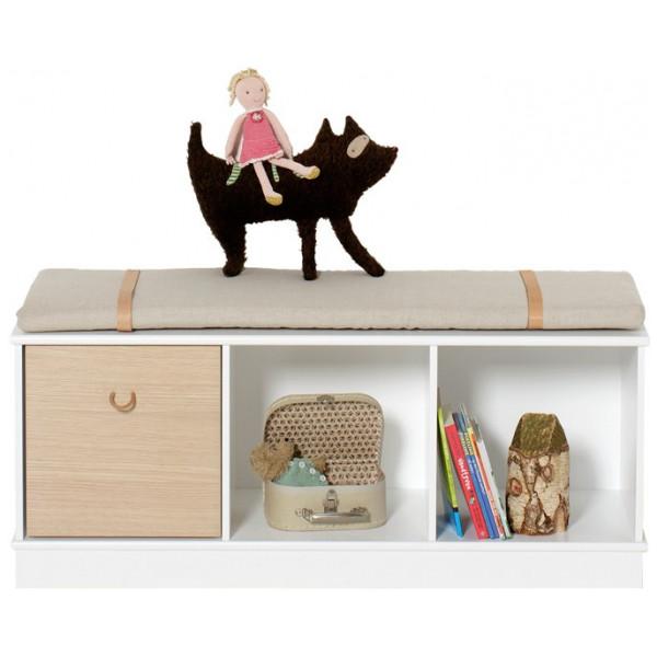 Wood Bokhylla 3 X 1 Med Sockel Oliver Furniture från Inget märke