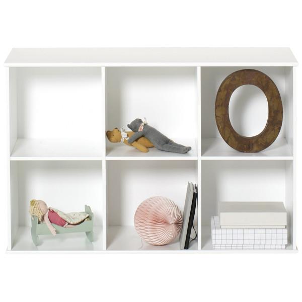 Wood Bokhylla 3 X 2 För Vägg Oliver Furniture från Inget märke