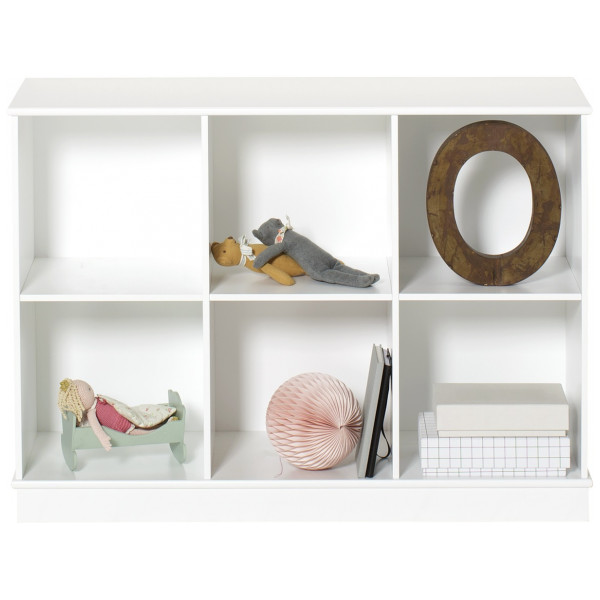 Wood Bokhylla 3 X 2 Med Sockel Oliver Furniture från Inget märke