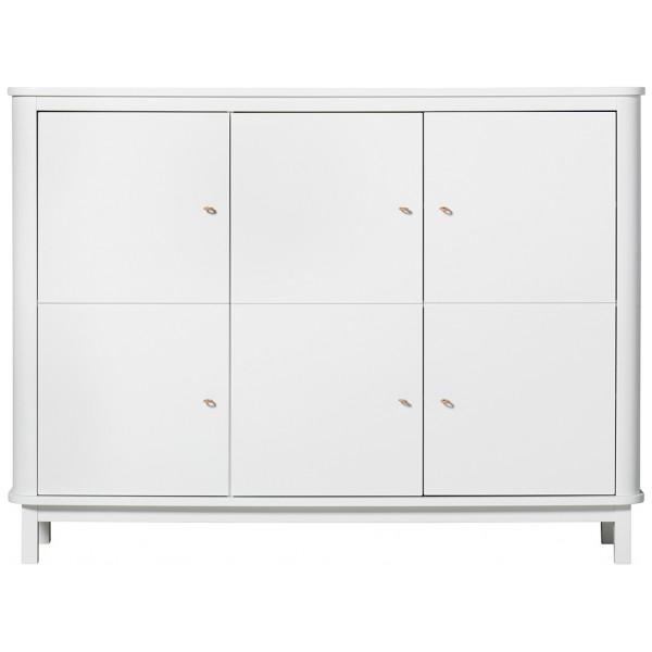 Wood Multiskåp Garderob Vit Oliver Furniture från Inget märke
