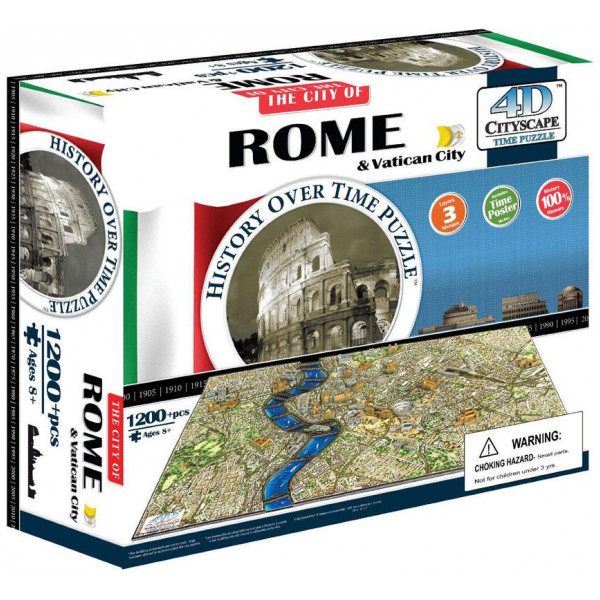 4D Cityscape Pussel Time Puzzle - Rome från 4d cityscape