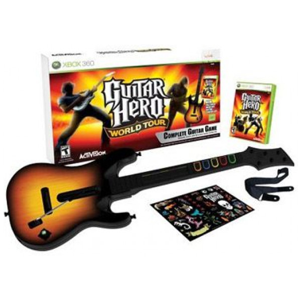Activision Tv-Spel Guitar Hero World Tour Bundle With Guitar Nordic från Activision