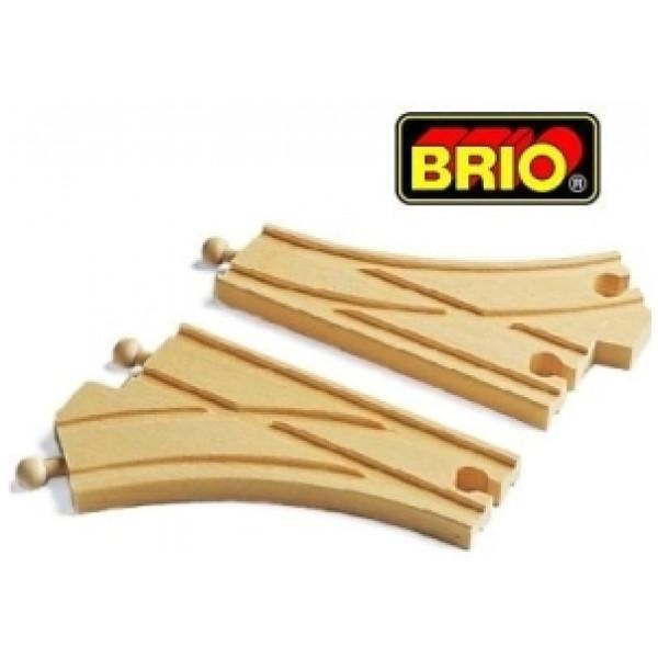 Brio Tåg Kurvväxelpar från Brio