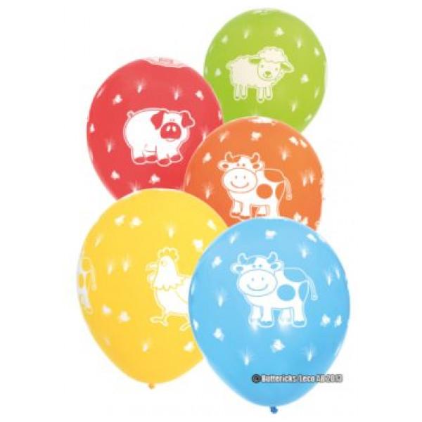 Buttericks Ballong Ballonger Gårdens Djur 6 St från Buttericks