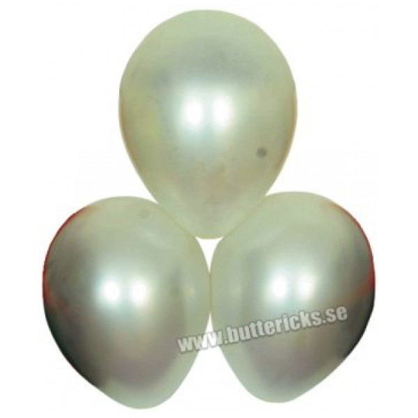 Buttericks Ballong Satin Vit 6St från Buttericks