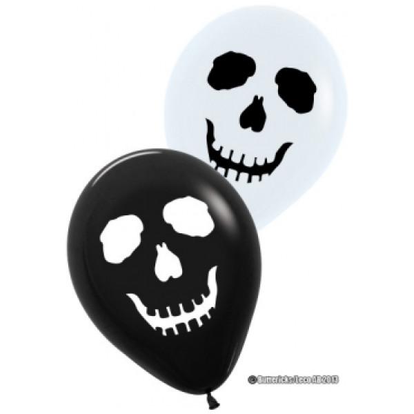 Buttericks Ballong Skräck Svart O Vit 6St från Buttericks