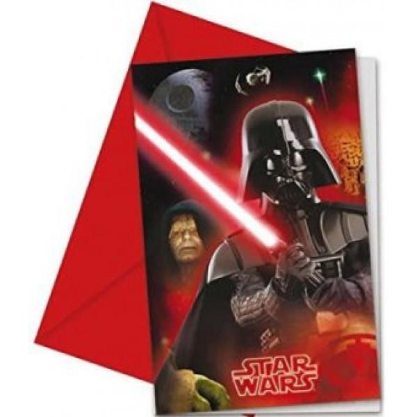 Buttericks Kalas Star Wars Inbjudningskort 6St från Buttericks