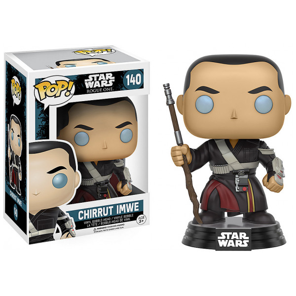 Disney Store 0-Starwars Chirrut Imwe Pop Vinylfigur Från Funko Rogue One A Star Wars Story från Disney store