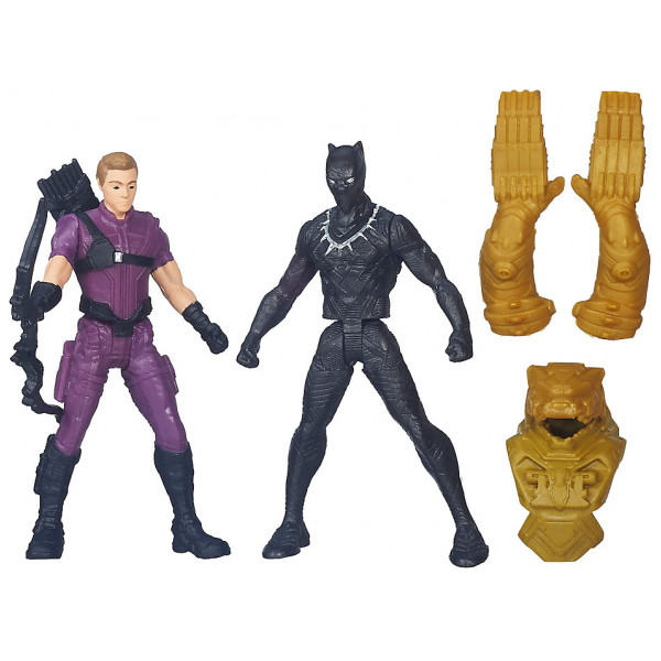 Disney Store Actionfigur Black Panther Och Hawkeye-Figurer Captain America Civil War från Disney store