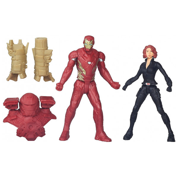 Disney Store Actionfigur Black Widow Och Iron Man-Figurer Captain America Civil War från Disney store