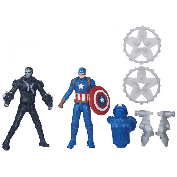 Disney Store Actionfigur Captain America Kontra Marvels Crossbones Figurer Captain America Civil War från Disney store