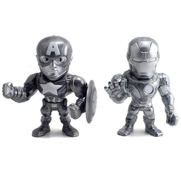 Disney Store Actionfigur Iron Man Och Captain America Metals 10 Cm Diecast-Figurer Captain America Civil War från Disney store