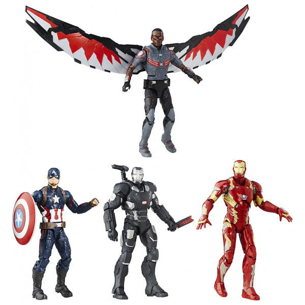 Disney Store Actionfigur Marvel Legends-Serien Captain America Civil War Figurset 4-Pack från Disney store