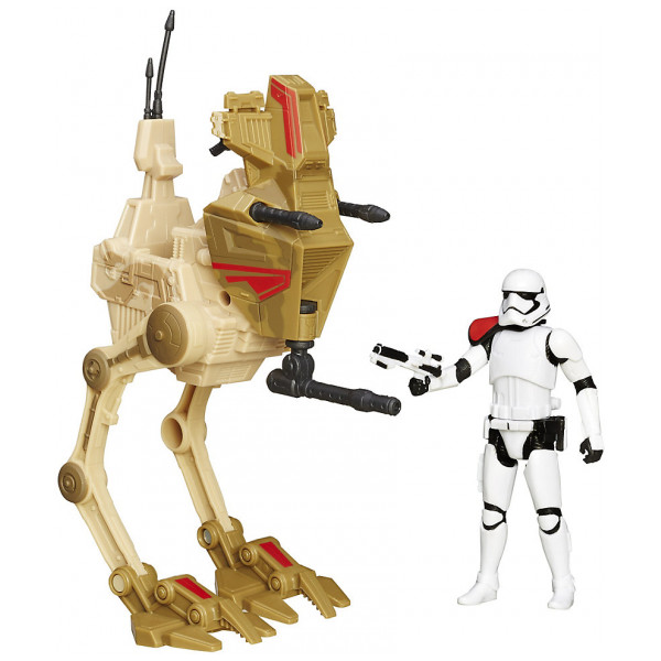 Disney Store Actionfigur Tvåbent Anfallsfordon Med Stormtrooper-Officersfigur Star Wars The Force Awakens från Disney store