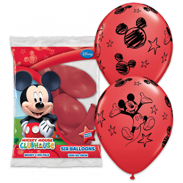 Disney Store Ballong Musse Pigg Ballonger 6-Pack från Disney store