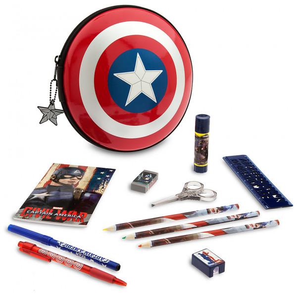Disney Store Captain America Pennfodral Med Pennor från Disney store