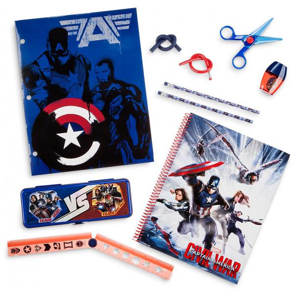 Disney Store Captain America Set Med Skrivmateriel från Disney store