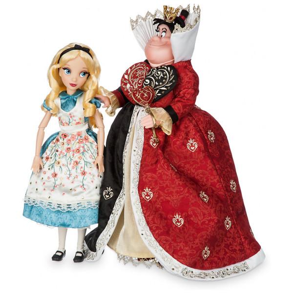 Disney Store Docka Alice Och Röda Drottningen Dockor I Begränsad Upplaga Disney Fairytale Designer Collection från Disney store