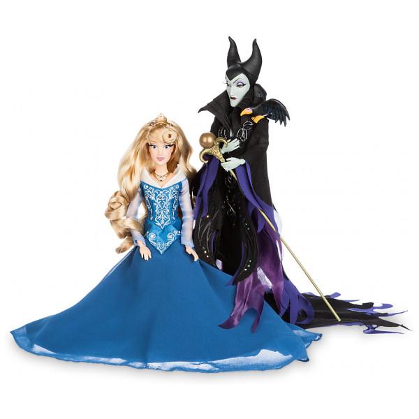 Disney Store Docka Disney Fairytale Designer Collection Törnrosa- & Maleficent-Dockor Begr Uppl från Disney store