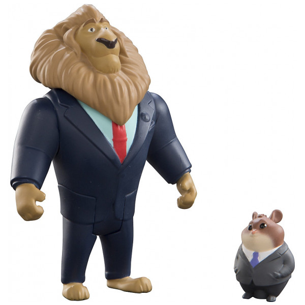 Disney Store Figur Borgmästare Lionheart Och Lämmelaffärsman Figurer Zootropolis från Disney store