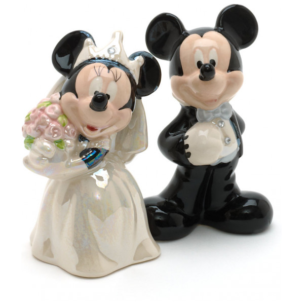 Disney Store Figur Mickey And Minnie Mouse Wedding Salt And Pepper Shakers från Disney store