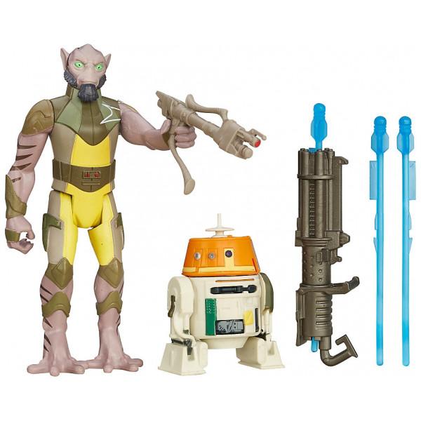 Disney Store Figur Star Wars Rebels Forest Mission Garazeb Zeb Orrelios Och C1-10P 9,5 Cm Figurer I 2-Pack från Disney store