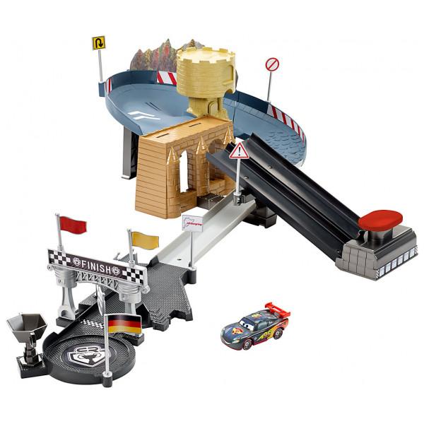 Disney Store Fordon Disney Pixar Bilar Carbon Racers Bana Med Dubbla Filer från Disney store