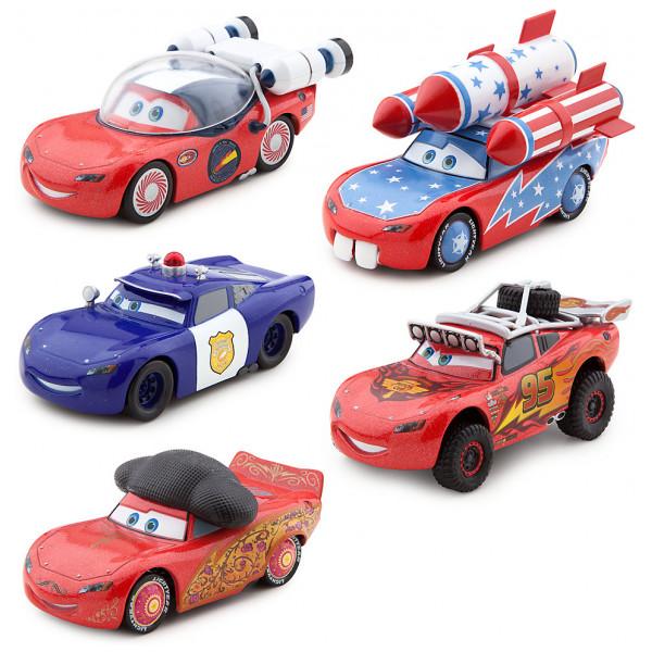 Disney Store Fordon Disney Pixar Bilar Mcqueen-O-Rama Diecast-Modeller Set Med 5 från Disney store