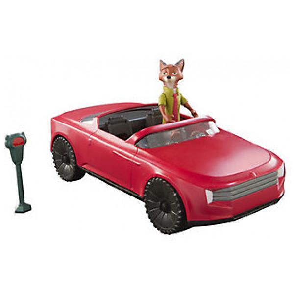Disney Store Fordon Nick Wildes Cabriolet Med Nick-Figur Zootropolis från Disney store