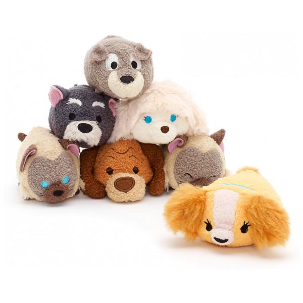 Disney Store Gosedjur Lady Och Lufsen Paket Med Tsum Minigosedjur från Disney store