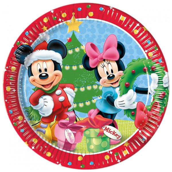 Disney Store Kalas Musse Och Mimmi 8X Jultallrikar från Disney store