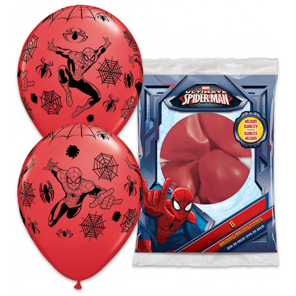 Disney Store Kalas Spiderman-Ballonger 6-Pack från Disney store