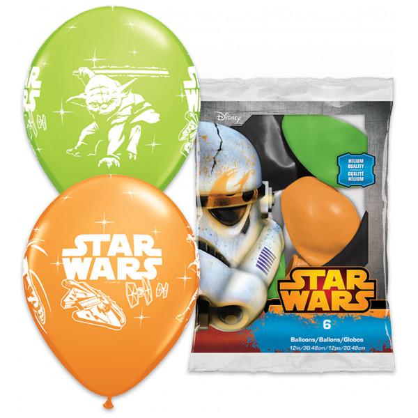 Disney Store Kalas Starwars Ballonger 6-Pack från Disney store