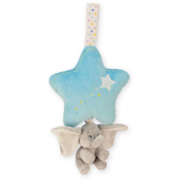 Disney Store Leksak Dumbo Blå Speldosa Med Snöre från Disney store