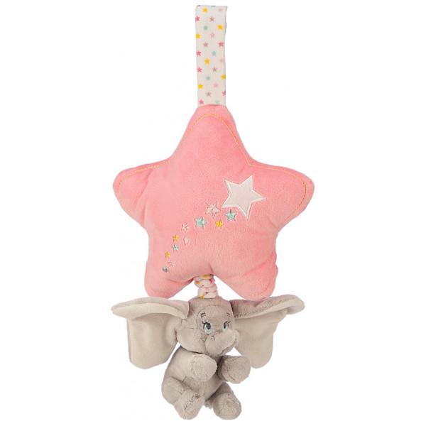 Disney Store Leksak Dumbo Rosa Speldosa Med Snöre från Disney store