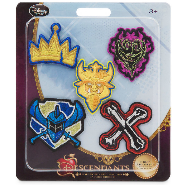 Disney Store Maskerad Disney Descendants Emblem Set Med 5 från Disney store
