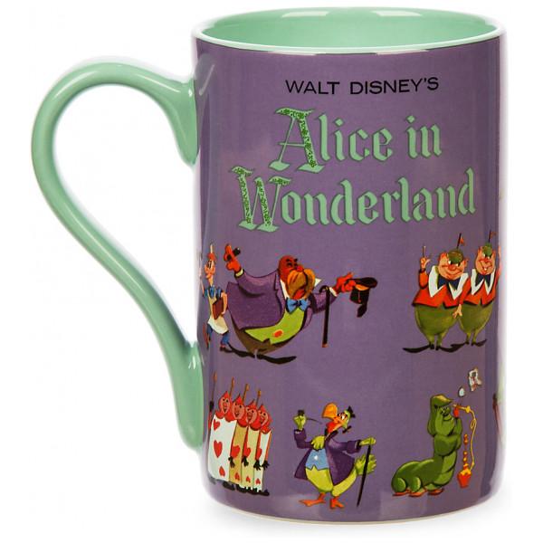 Disney Store Mugg Alice I Underlandet Med Vinylomslagskonst från Disney store
