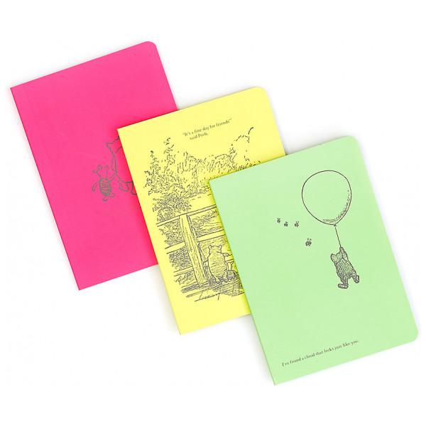 Disney Store Nalle Puh Dagböcker I A6-Format Set Om 3 från Disney store