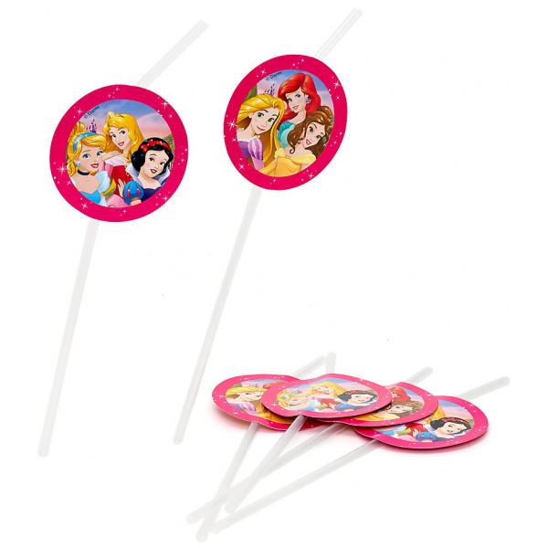 Disney Store Partydukning Disney Prinsessor 6X Böjbara Sugrör från Disney store