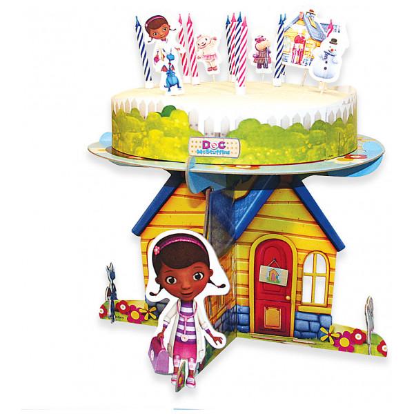 Disney Store Partydukning Doktor Mcstuffins Set Med Tårtdekorationer från Disney store