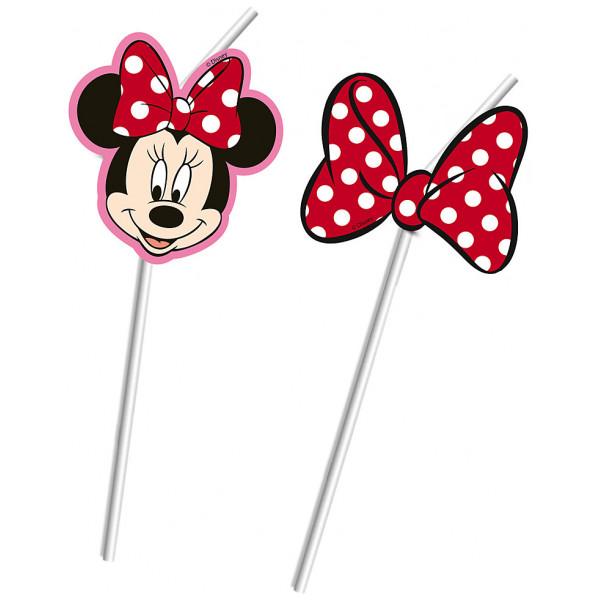 Disney Store Partydukning Mimmi Pigg Böjbara Sugrör Set Med 6 från Disney store