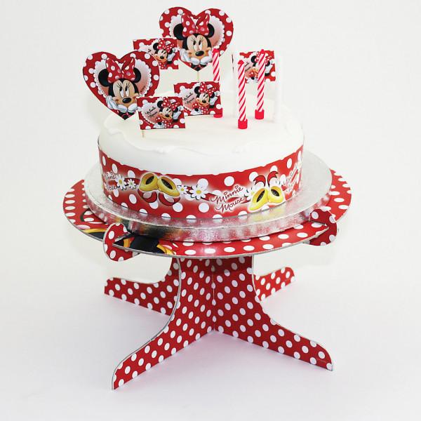Disney Store Partydukning Mimmi Pigg Set Med Tårtdekorationer från Disney store