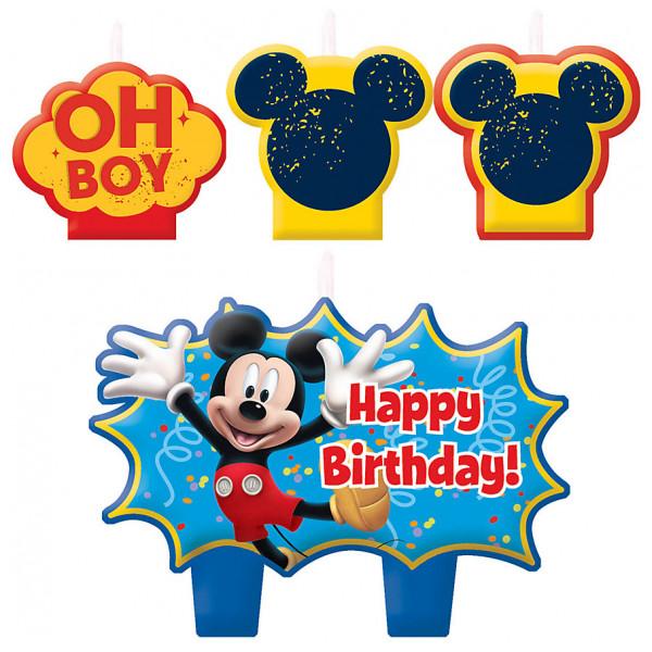 Disney Store Partydukning Musse Pigg Set Med Födelsedagsljus från Disney store