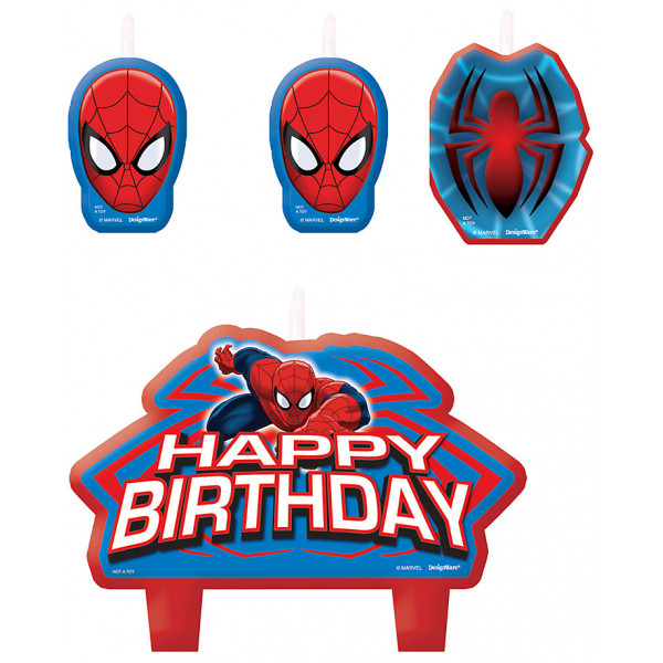 Disney Store Partydukning Spiderman Födelsedagsljus från Disney store