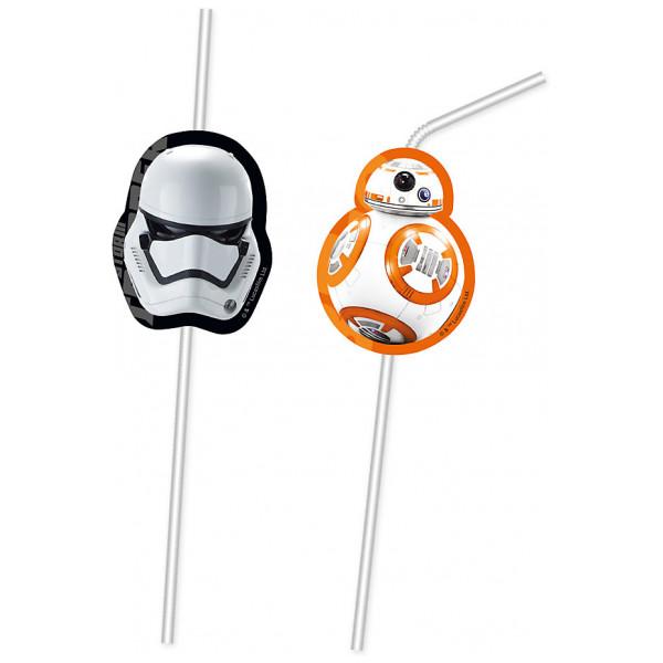 Disney Store Partydukning Star Wars The Force Awakens 6X Böjbara Sugrör från Disney store