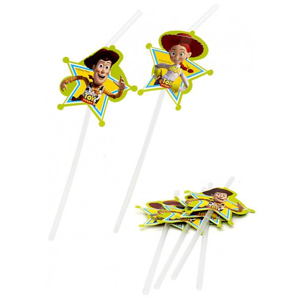 Disney Store Partydukning Toy Story 6X Böjbara Sugrör från Disney store
