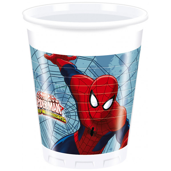 Disney Store Partymugg Spiderman Partymuggar Set Med 8 från Disney store