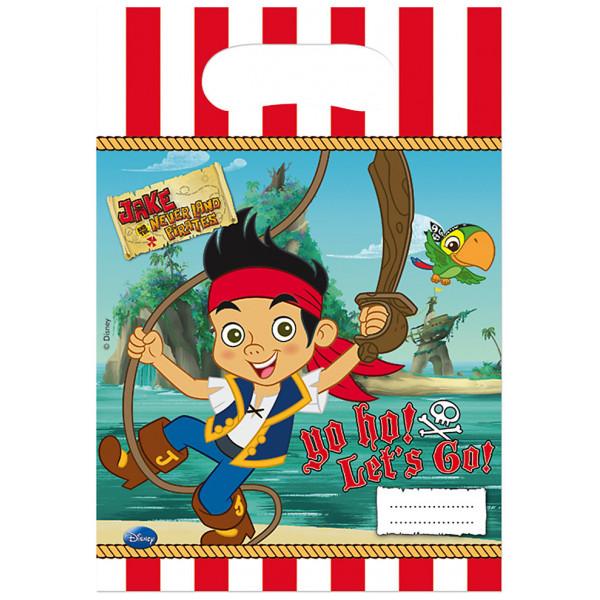 Disney Store Partypåse Jake Och Piraterna I Landet Ingenstans Partypåsar 6-Pack från Disney store