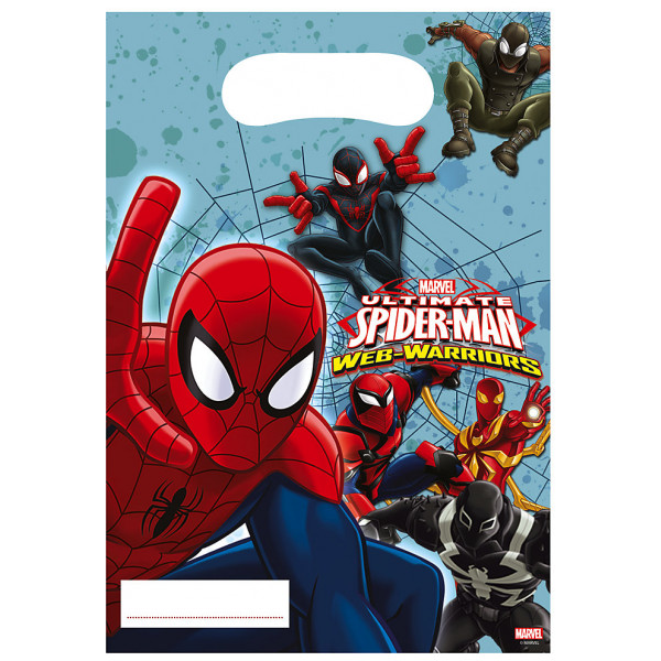 Disney Store Partypåse Spiderman Partypåsar 6-Pack från Disney store